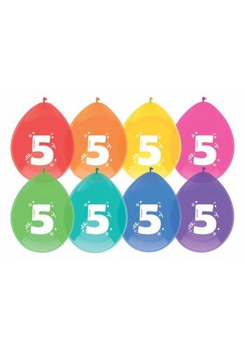 Ballonnen 5 - 30cm - 8 stuks