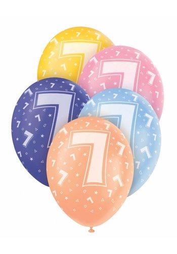 Ballonnen 7 - 30cm - 5 stuks