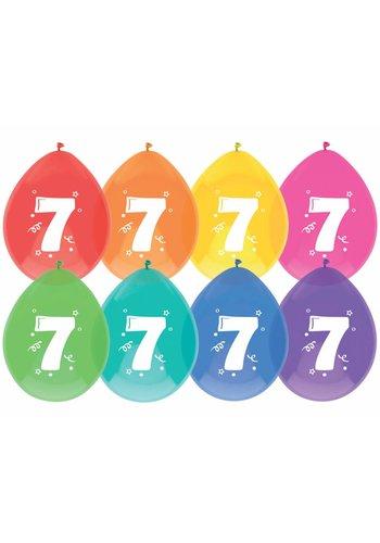 Ballonnen 7 - 30cm - 8 stuks