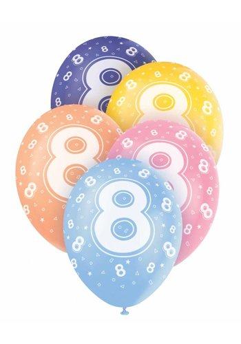 Ballonnen 8 - 30cm - 5 stuks