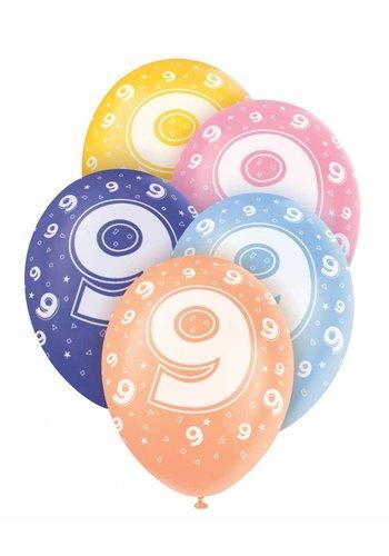 Ballonnen 9 - 30cm - 5 stuks