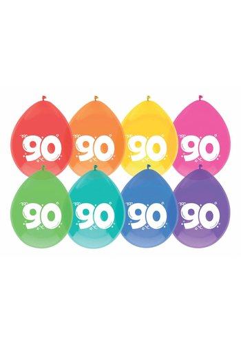 Ballonnen 90 - 30cm - 8 stuks