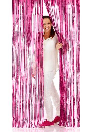 Deurgordijn Hot Pink - 2x1mtr