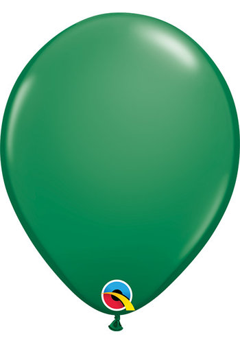 Heliumballon Donker Groen Standaard (28cm)