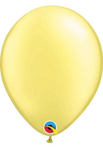 Heliumballon Zacht Geel Metallic (28cm)
