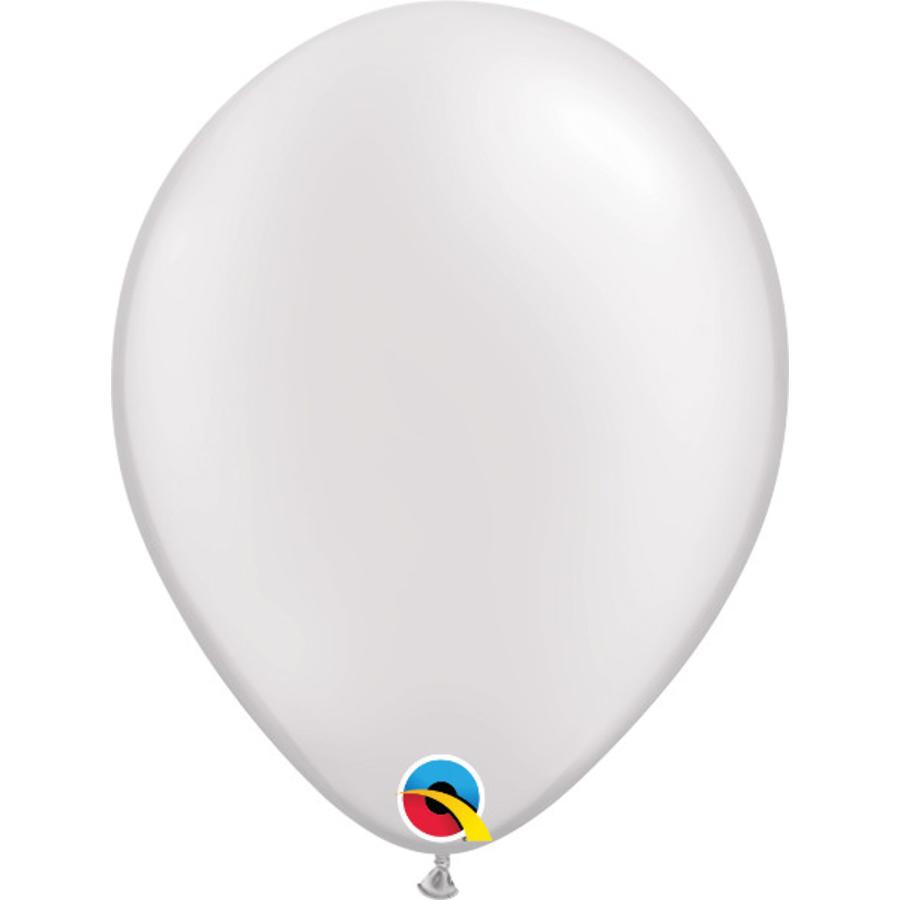 Helium Ballon Wit Metallic (28cm)-1
