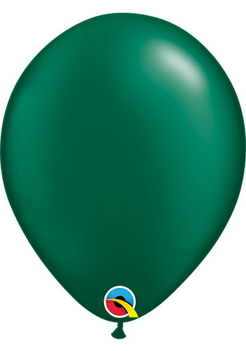 Heliumballon Donker Groen Metallic (28cm)