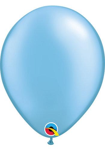 Heliumballon Azure Blauw Metallic (28cm)