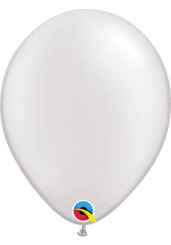 Heliumballon Wit Metallic (40cm)