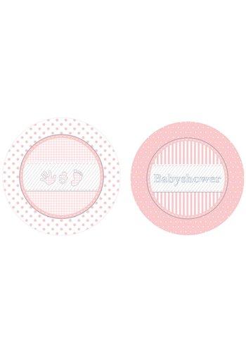 Babyshower Girl bordjes 18cm - 8 stuks