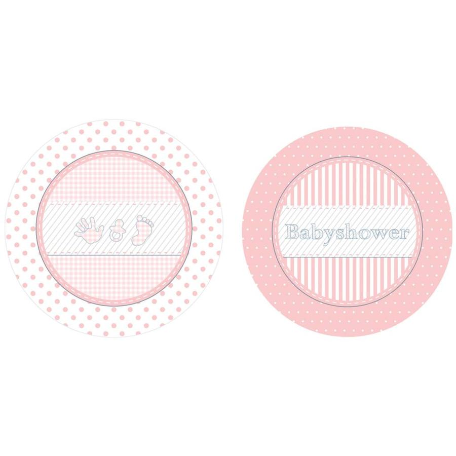 Babyshower Girl bordjes 18cm - 8 stuks-1