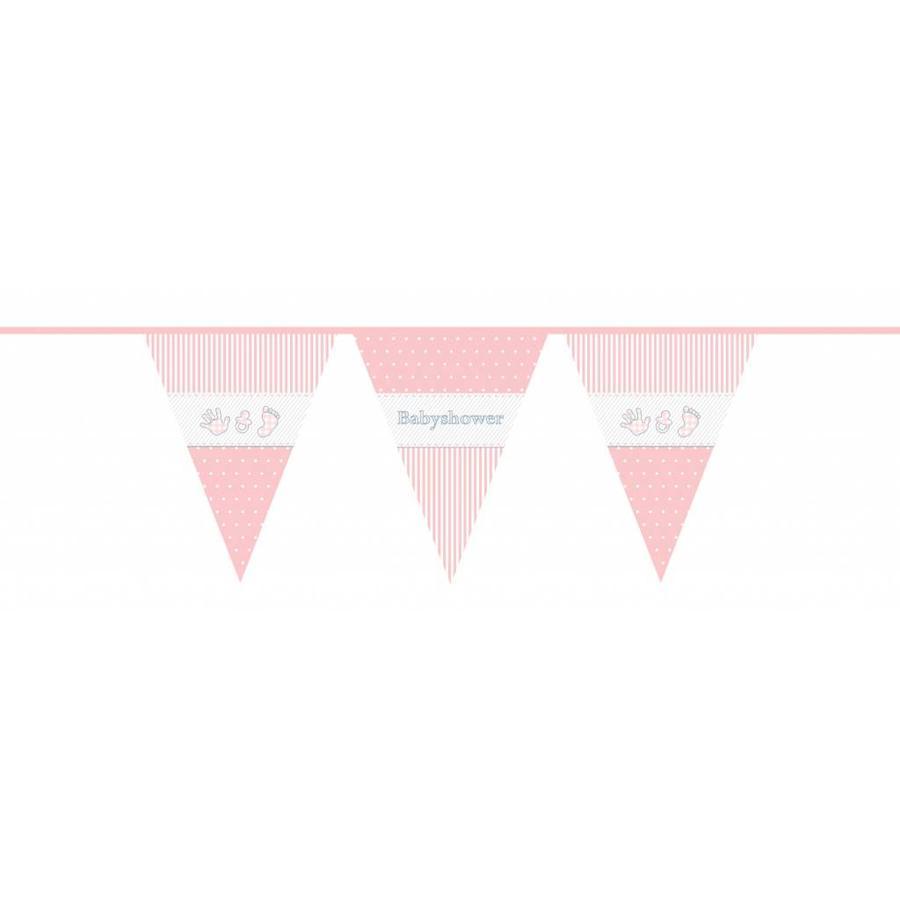 Babyshower Girl vlaggenlijn - 10 meter-1