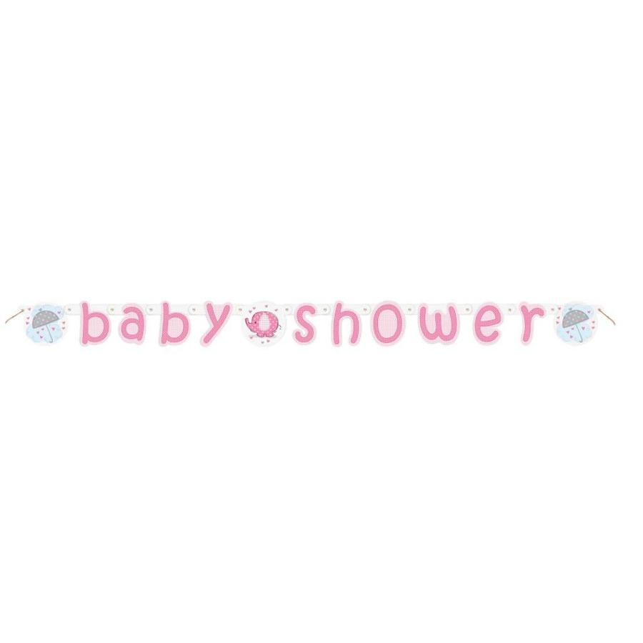 Babyshower olifantje girl letterbanner-1