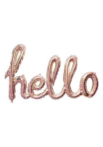"Folieballon Kit ""HELLO"" Rosé Gold"