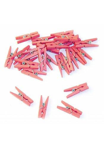 Knijpertjes Licht Roze - 24 stuks