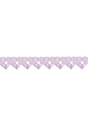 Slinger mini hart Licht Roze - 6 meter