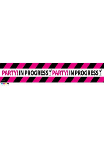 "Afzetlint ""Party in progress"" - 15 meter"