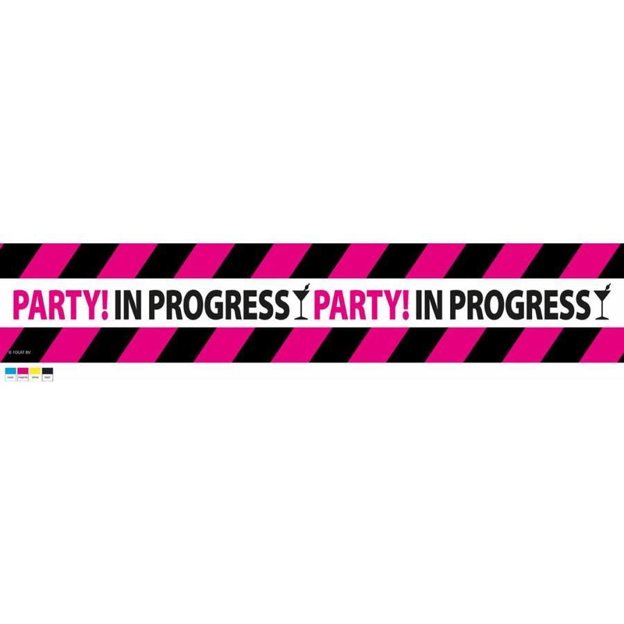 """Afzetlint """"Party in progress"""" - 15 meter-1"""