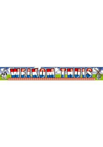 Welkom Thuis banner - 5 x 1 meter
