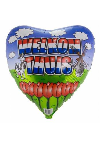 Welkom Thuis folieballon - 45cm