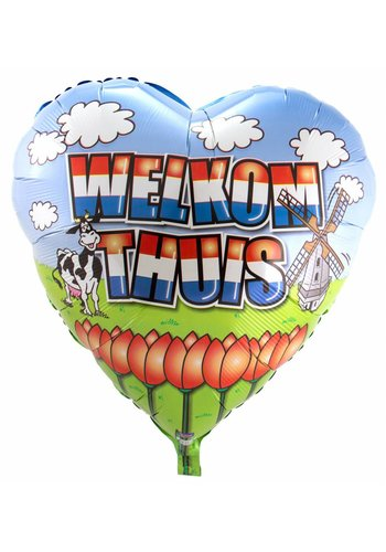 Welkom Thuis Jumbo folieballon - 74cm