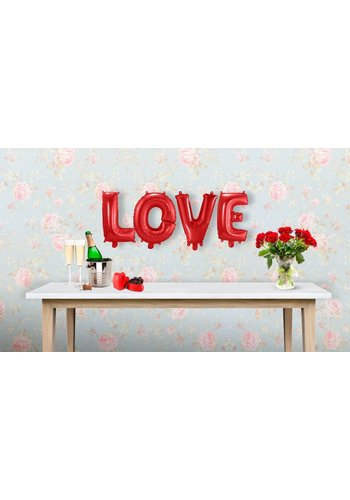 "Folieballon Kit ""LOVE"" rood - 36cm"