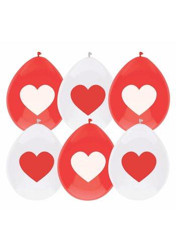 Beschrijfbare ballonnen Love - 6 stuks