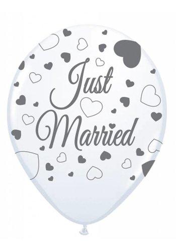Just Married ballonnen - 8 stuks