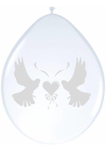 Love Doves ballonnen metallic - 8 stuks