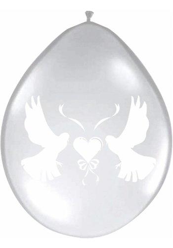 Love Doves ballonnen transparant - 8 stuks