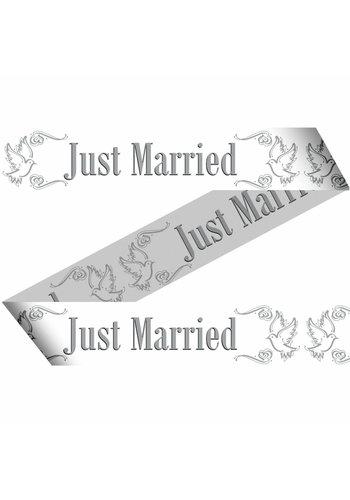 Love Doves Markeerlint Just Married - 15 meter