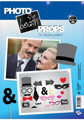 Photo Booth Props - Honeymoon - 20 stuks