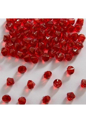 Tafel diamandjes Rood 9mm - 28 gram