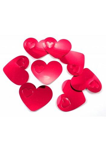 Tafelconfetti XL rode hartjes