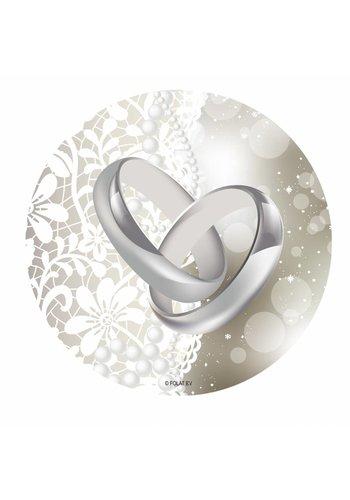 Wedding Rings onderzettertjes - 24 stuks