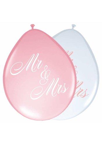 Wedding roses ballonnen - 8 stuks