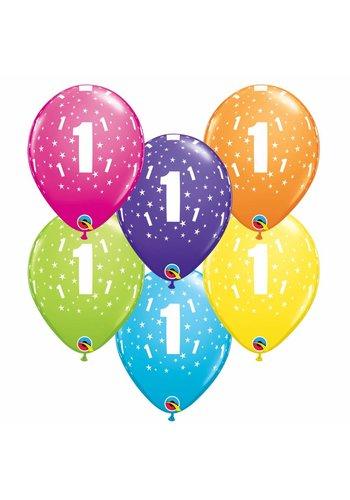 Helium Ballon 1 jaar (28cm)