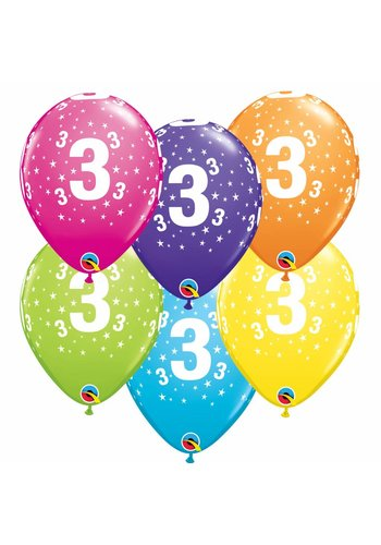 Helium Ballon 3 jaar (28cm)