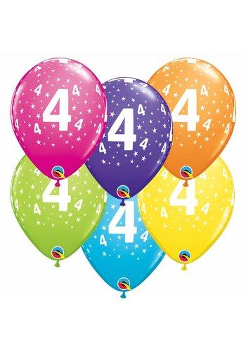 Helium Ballon 4 jaar (28cm)