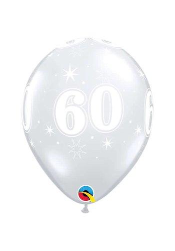 """11"""" Doorzichtig 60 jaar (28cm)"""
