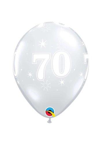 """11"""" Doorzichtig 70 jaar (28cm)"""