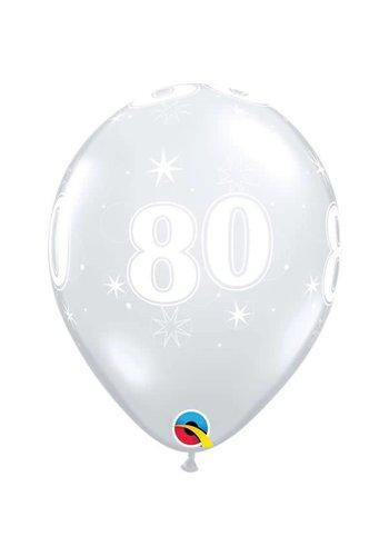 """11"""" Doorzichtig 80 jaar (28cm)"""