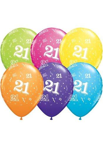 "11"" Confetti 21 jaar (28cm)"