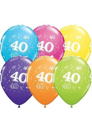 "11"" Confetti 40 jaar (28cm)"