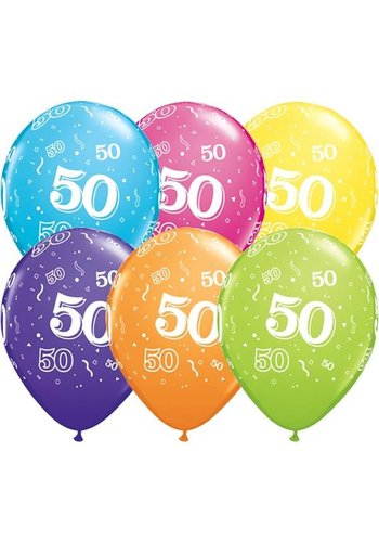 "11"" Confetti 50 jaar (28cm)"