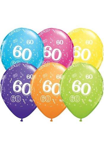 "11"" Confetti 60 jaar (28cm)"