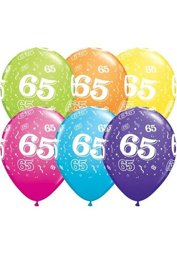 "11"" Confetti 65 jaar (28cm)"