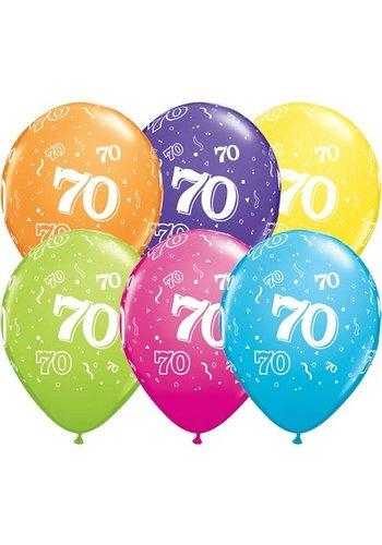 "11"" Confetti 70 jaar (28cm)"