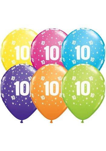Helium Ballon 10 jaar (28cm)
