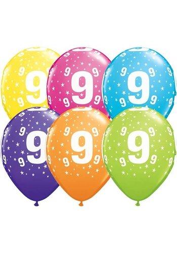 Helium Ballon 9 jaar (28cm)